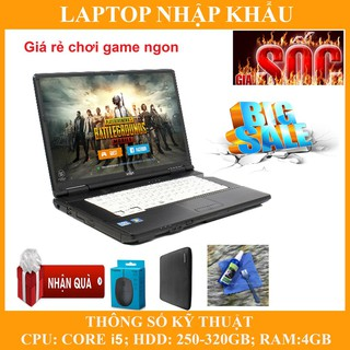 Laptop chơi game fifa 4, pubg mobile,  Core i5, RAM 4G, 250gb