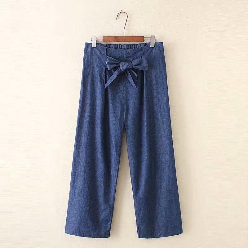 Quần jeans dài lưng cao phong cách Hàn Quốc thời trang cho nữ