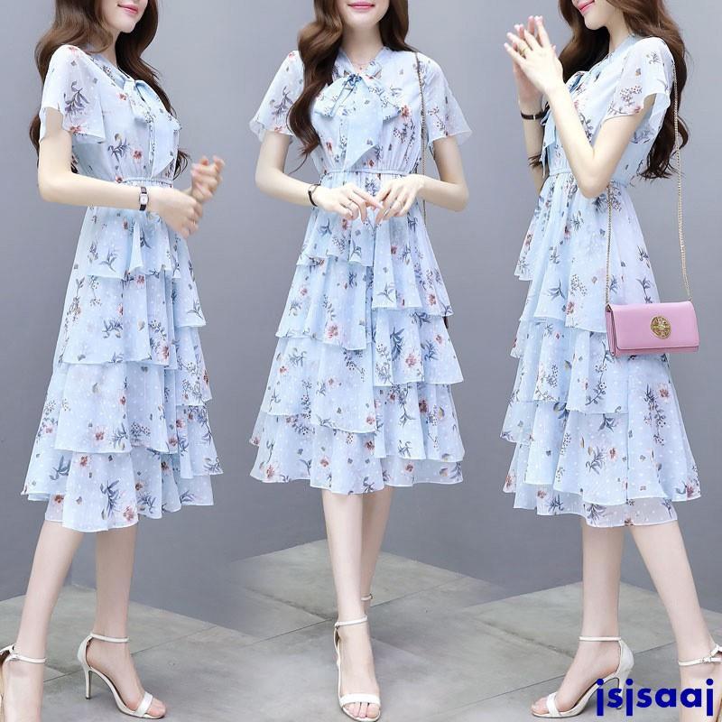 Chân Váy Voan Dài Nhiều Tầng Thời Trang Mùa Hè Hàn Quốc Cho Nữ