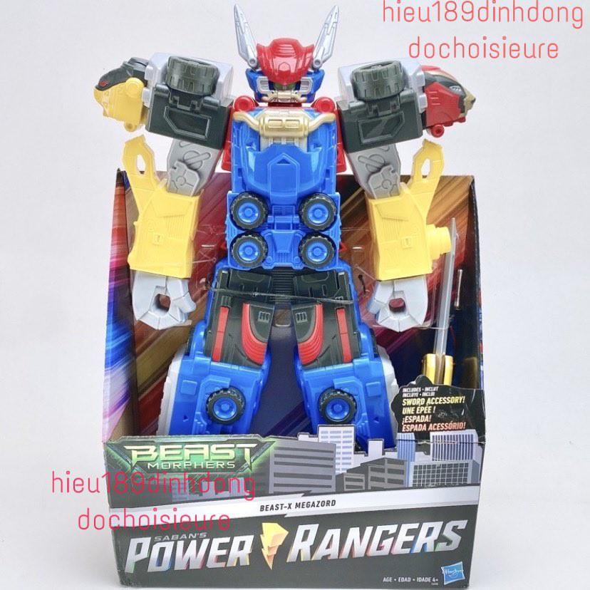 mô hình Robot khổng lồ Power Rangers Beast Morphers Megazord 50cm hasbro full box