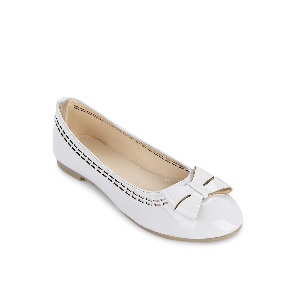 Giày búp bê mũi tròn cutout