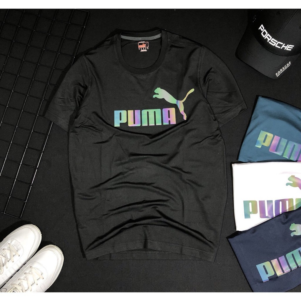 Áo thun thể thao nam  FREESHIP  áo thun phối logo dạ quang -Thời trang KAIHATSU