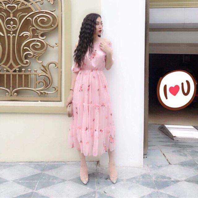 Váy hoa GUCI (cam kết hàng đẹp i hình)