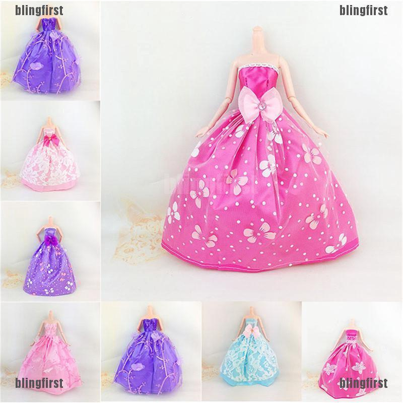 [Bling] Elegant Handmade Doll Clothes Wedding Dress Doll Party Gown Clothes [First]