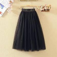 Chân váy tulle skirt style công chúa dài qua gối