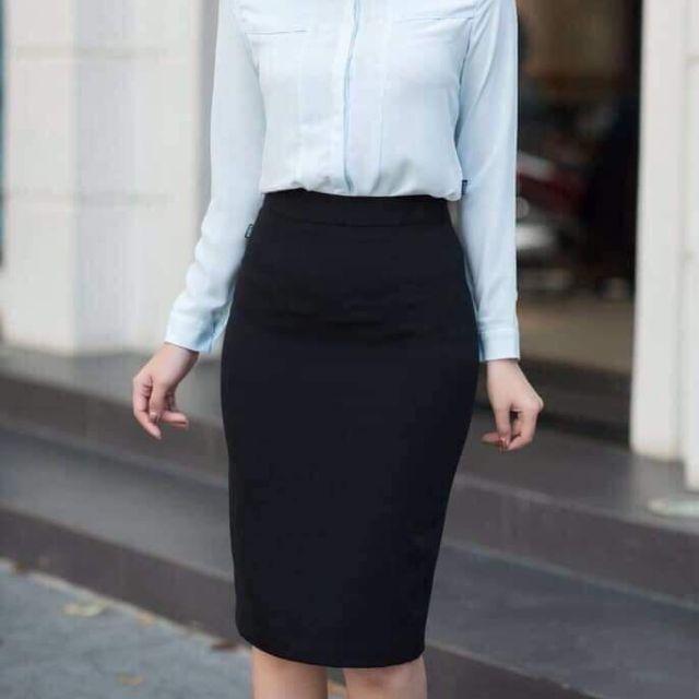 Chân váy bút chì Zara