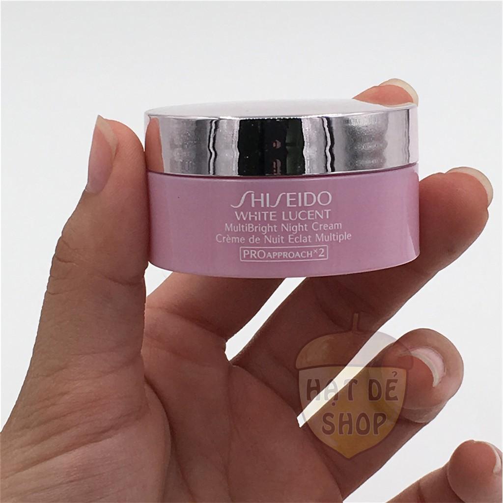 Shiseido Kem Đêm Dưỡng Trắng WHITE LUCENT MultiBright Night Cream 18ML-Hàng Chính hãng