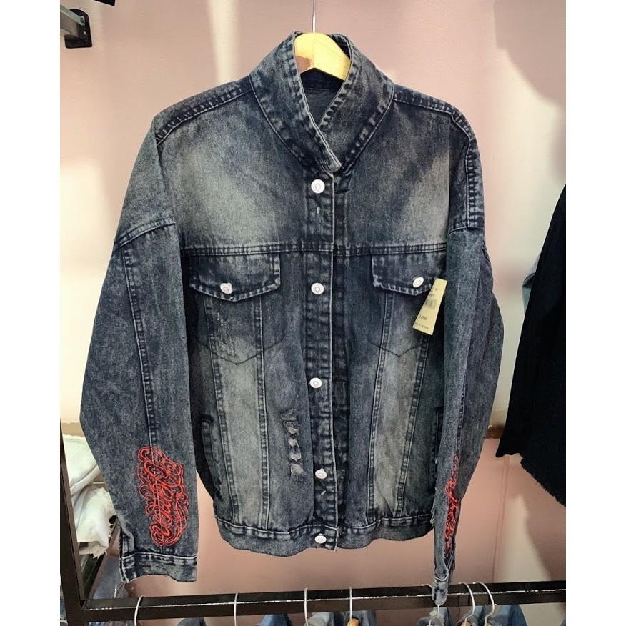(HOÀN TRẢ,ĐỔI TRONG 7 NGÀY)áo khoác jean nam in hìnhcao cấpxem nhiều mẫu hơn trong shop