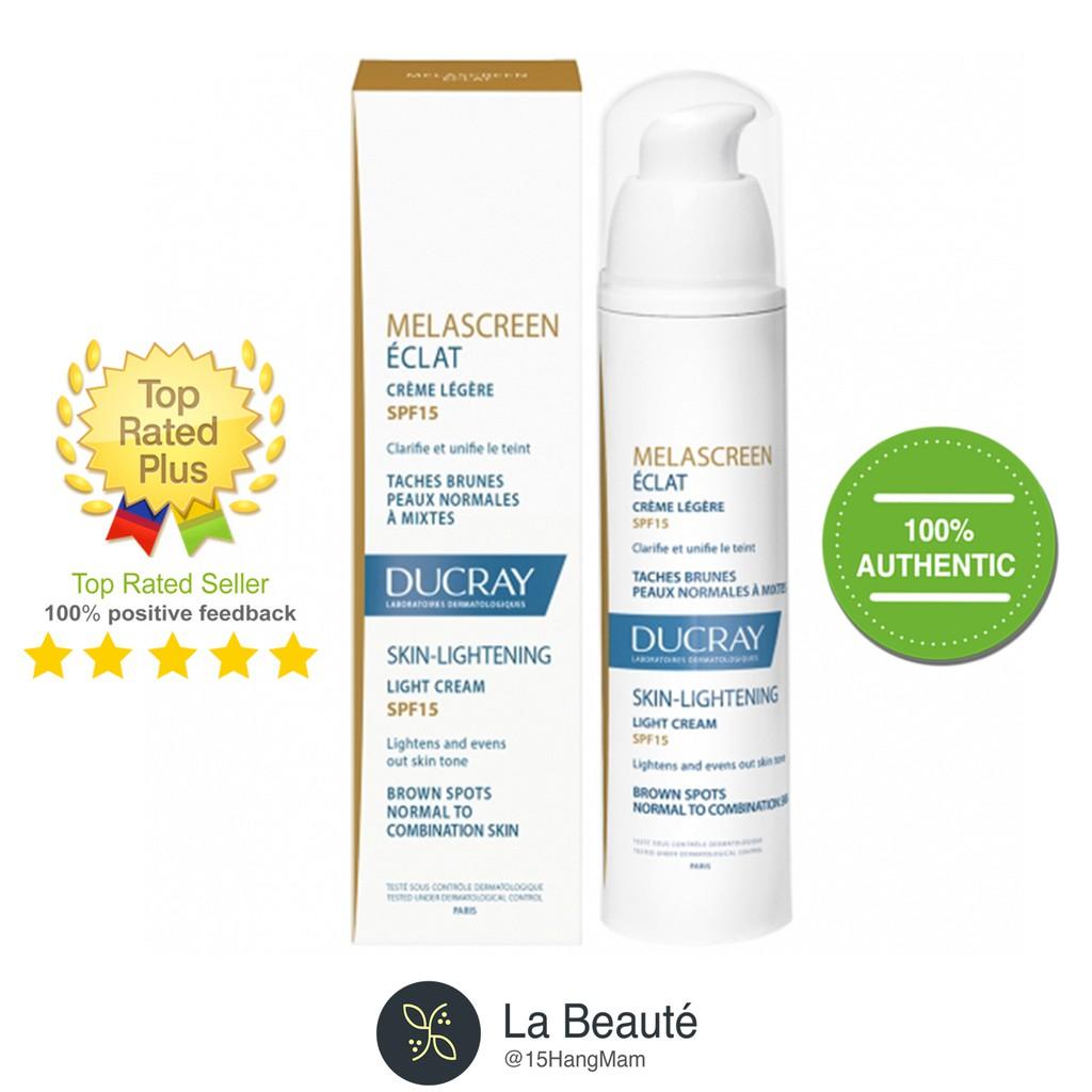 Kem dưỡng làm sáng đều màu da có chống nắng - Ducray Melascreen Éclat Crème Légère Spf15