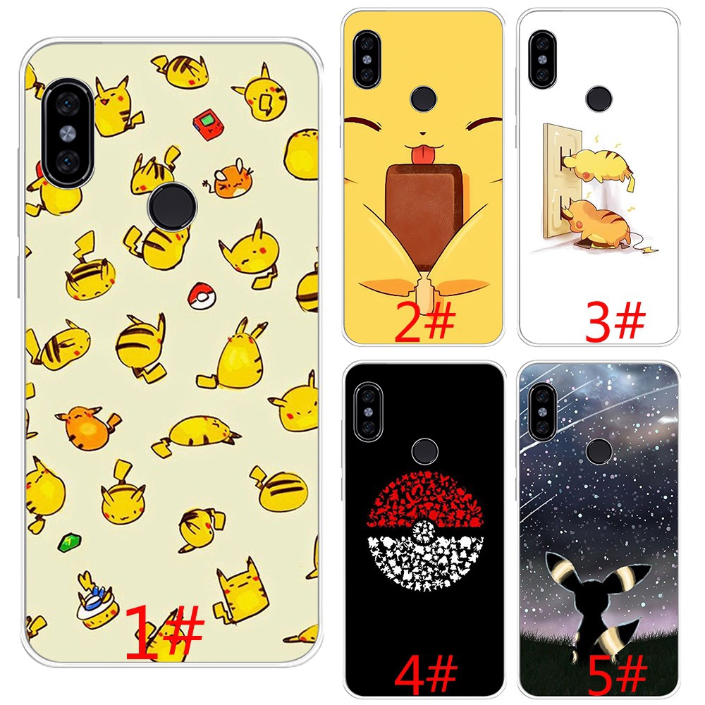 Pikachus Cute Cartoon Soft Silicone Case Xiaomi Mi 8 9 SE 8 Lite A2 Lite A1 F1 Max 3 TPU Cover