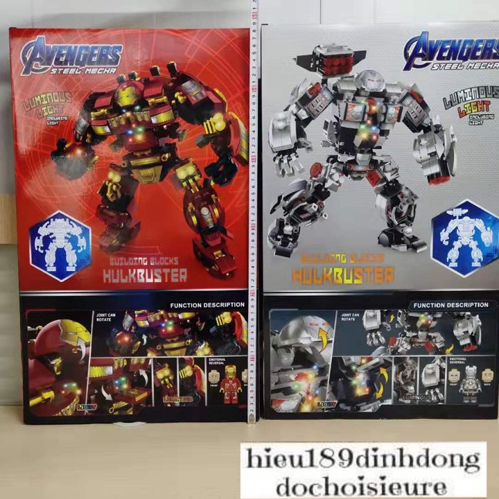 Lắp ráp xếp hình Lego siêu anh hùng 3d131 : bộ giáp Iron Man Hulkbuster warmachine (Khách hàng chat chọn mẫu)