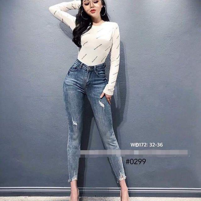 Quần jean lưng cao bigsize 32-36