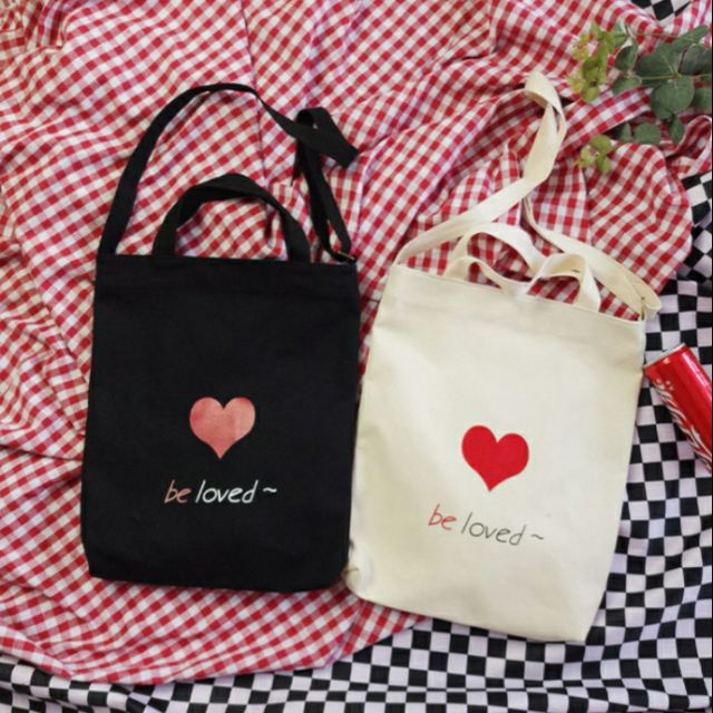 TOTE ĐEO 2 KIỂU _ tim be loved-