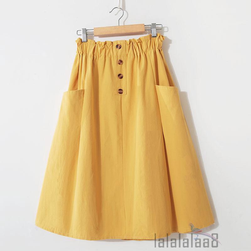 Chân Váy Có Túi Màu Trơn Thời Trang Cho Nữ
