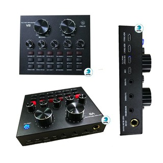 SOUNDCARD LIVESTREAM V8 AUTOTUNE CÓ BLUETOOTH