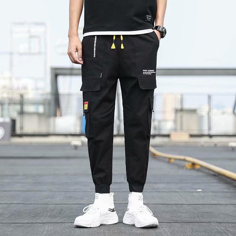 Quần jean nam ống rộng form đứng phong cách Harajuku cá tính