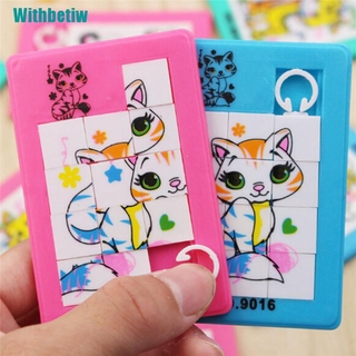 Hình ảnh 【Withbetiw】Fashion Animals Numbers Puzzle Slide Game Jigsaw Toy Kids Educational Toy Random Colour