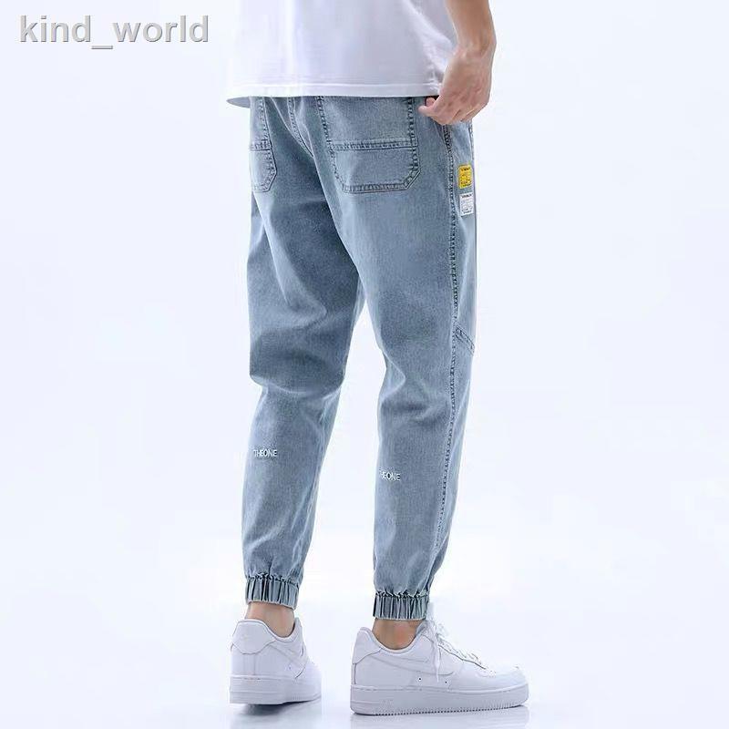 Quần Jeans Nam Dài Ống Bó Thời Trang Hàn
