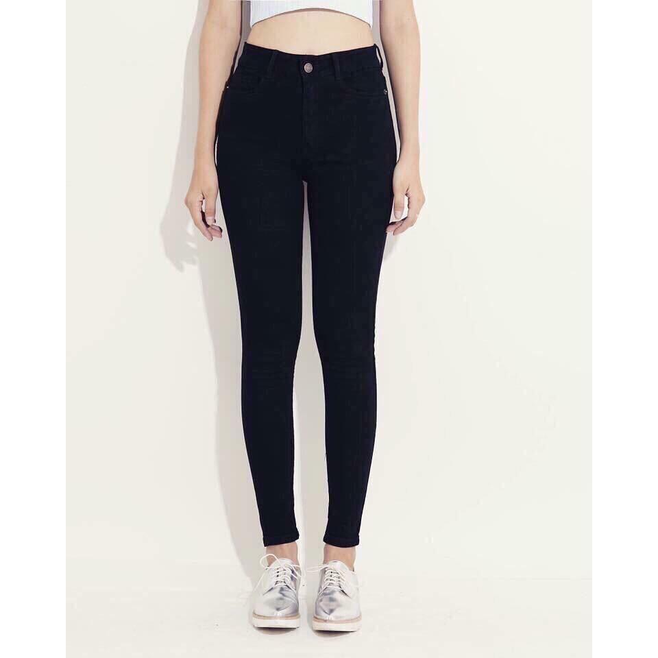 [HÀNG ĐỘC+LẠ] quần jean đen trơn trẻ trung