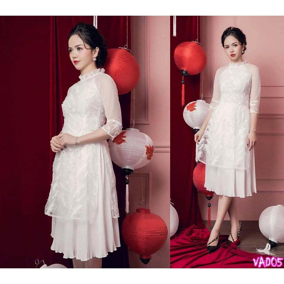 Set áo dài cách tân + Váy xô dập (hàng cao cấp) VAD05 - V295