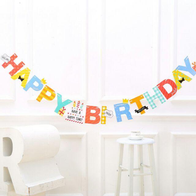 Băng dây chữ sinh nhật ngộ nghĩnh (chữ happy birthday)