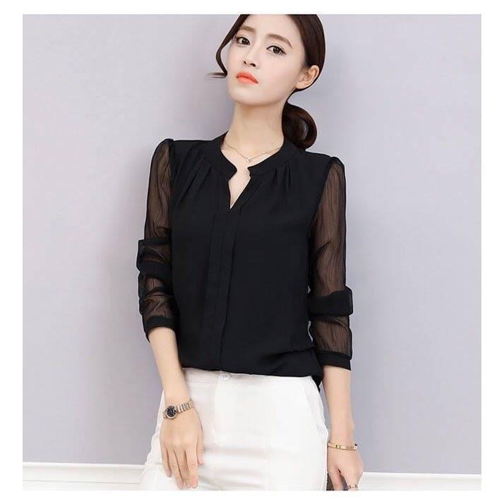 Áo Sơ Mi Nữ Hàn Quốc 2018 Cao Cấp Không Nhăn áo sơ mi nữ hà nội áo sơ mi nữ họa tiết đẹp BG43