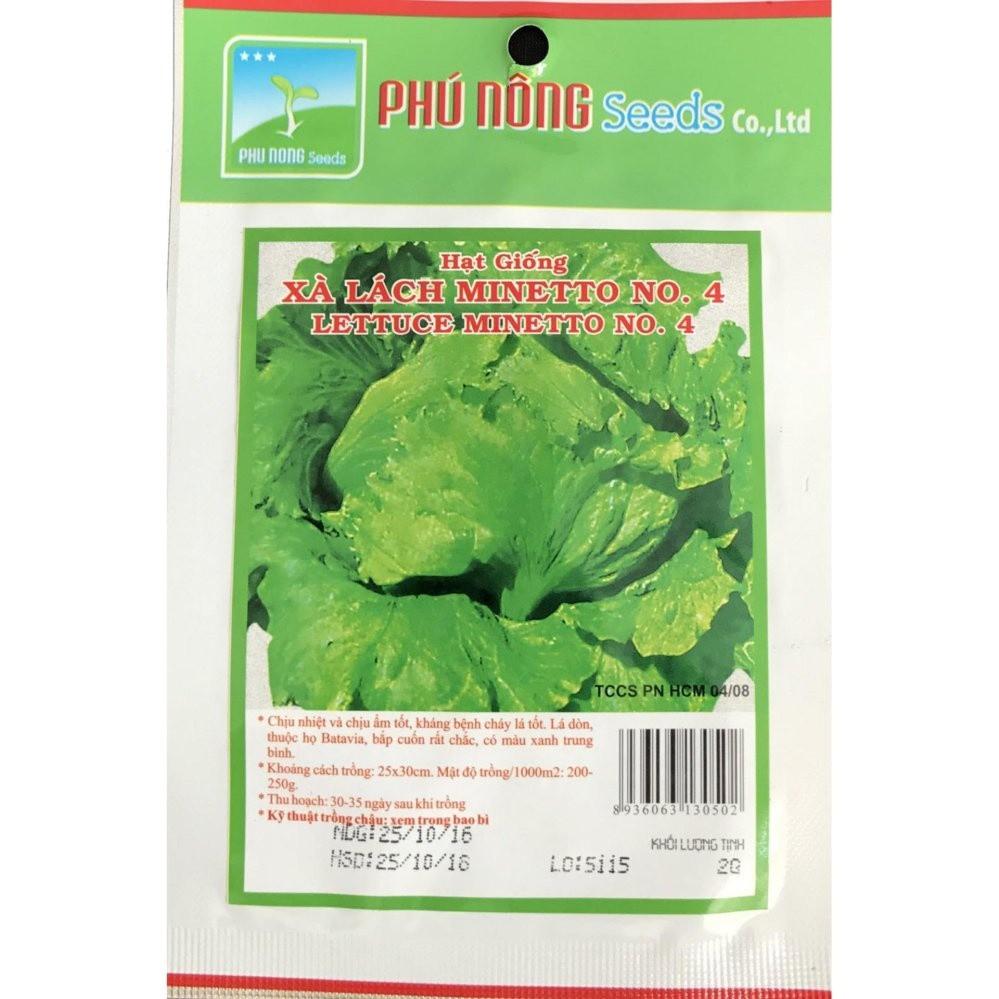 Hạt giống Xà lách Minetto - Gói 2g PN130502