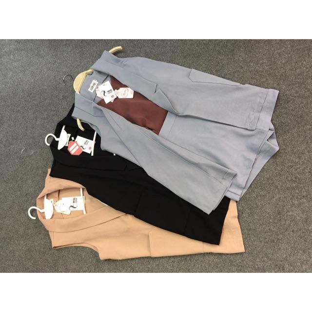 Set áo vest sát nách quần váy