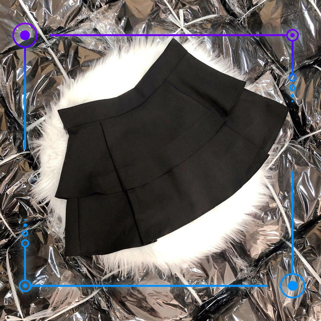 [ReikoShoppu2020] 12C14B1 Chân váy 2 tầng trẻ trung nữ tính, vải dày đẹp