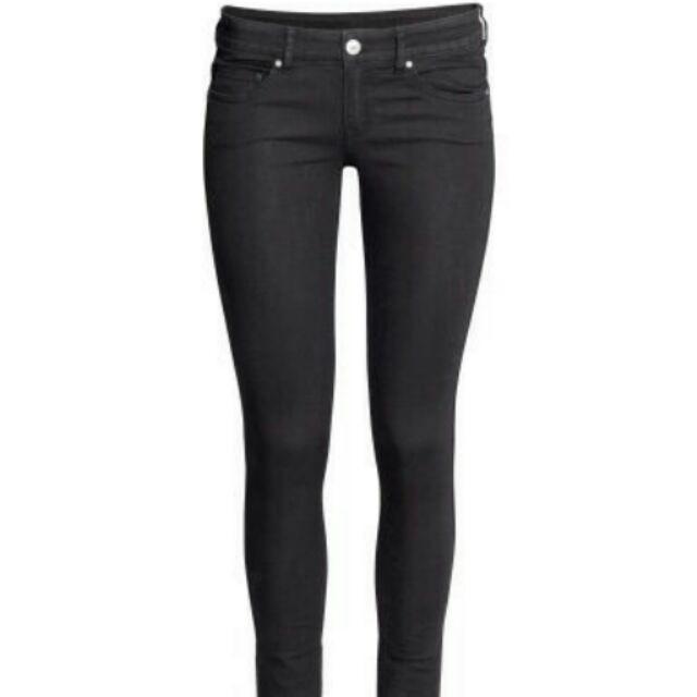 [HANGHIEU SSO4] Quần jean nữ HM đen cao cấp Super Skinny Low Waist Made in Cambodia SSO4