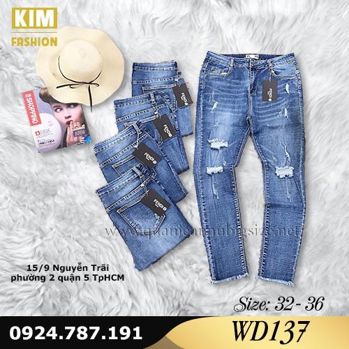Quần Jean Dài Co Giãn Bigsize WD137 Size 32-36