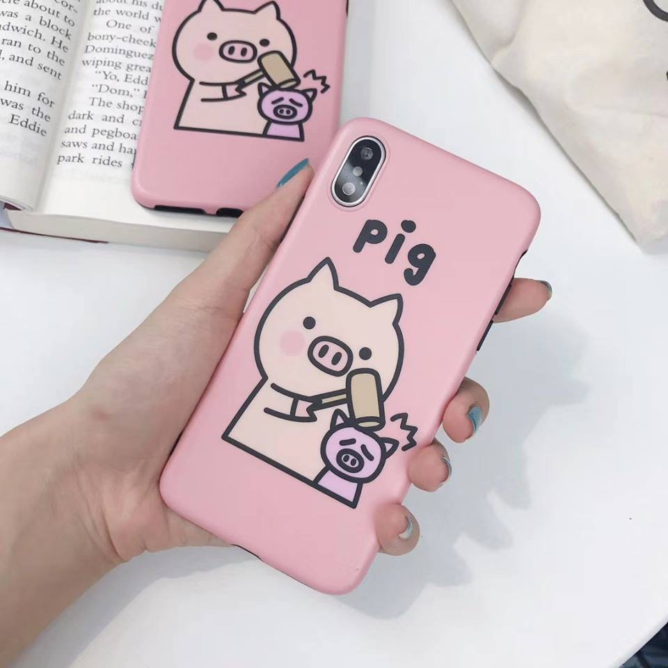 Ốp in nổi 6D pig hồng
