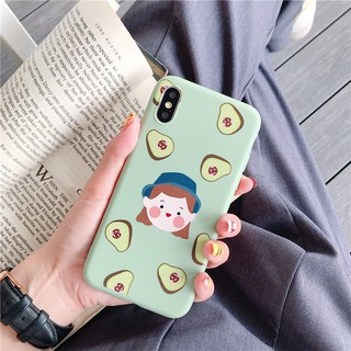 Ốp điện thoại case IPHONE 6/6S 6/6S PLUS 7/8 7/8 PLUS X XS XR XS MAX  CUTE FRUIT GIRL CASING
