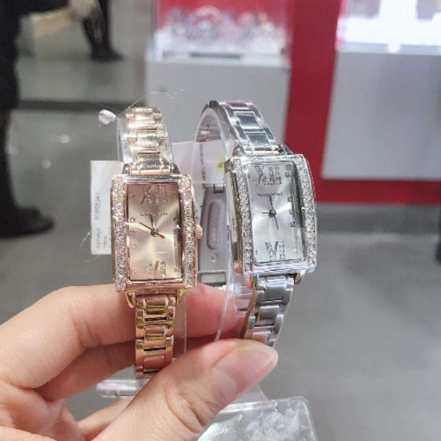 Đồng hồ nữ Sunlight dây kim loại mặt chữ nhật