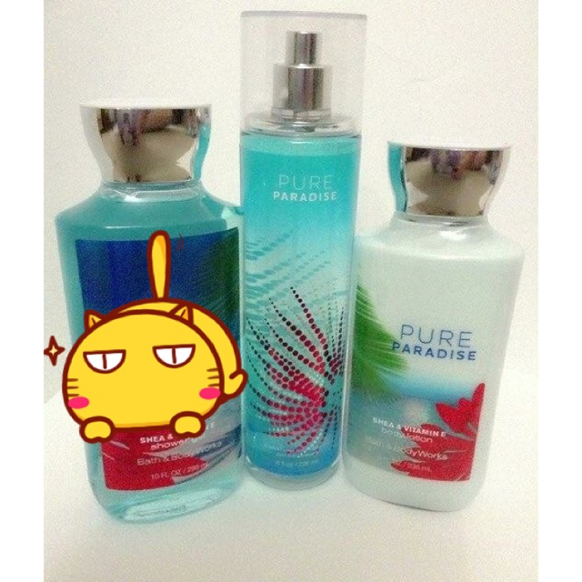 SET 2 CHAI PURE PARADISE BATH AND BODY WORKS