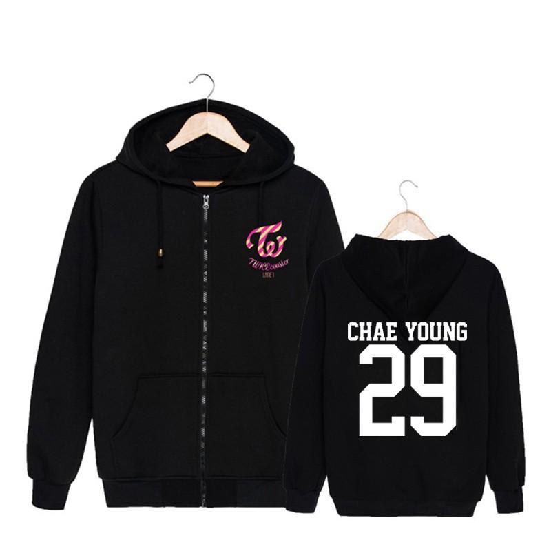Áo khoác có nón trùm đầu dành cho fan hâm mộ TWICE CHAE YOUNG