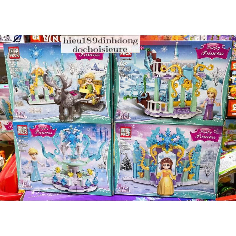 Lắp ráp xếp hình Lego Princess 67003 : Các nhận vật công chúa elsa trong truyện cổ tích (Khách hàng chat chọn mẫu)