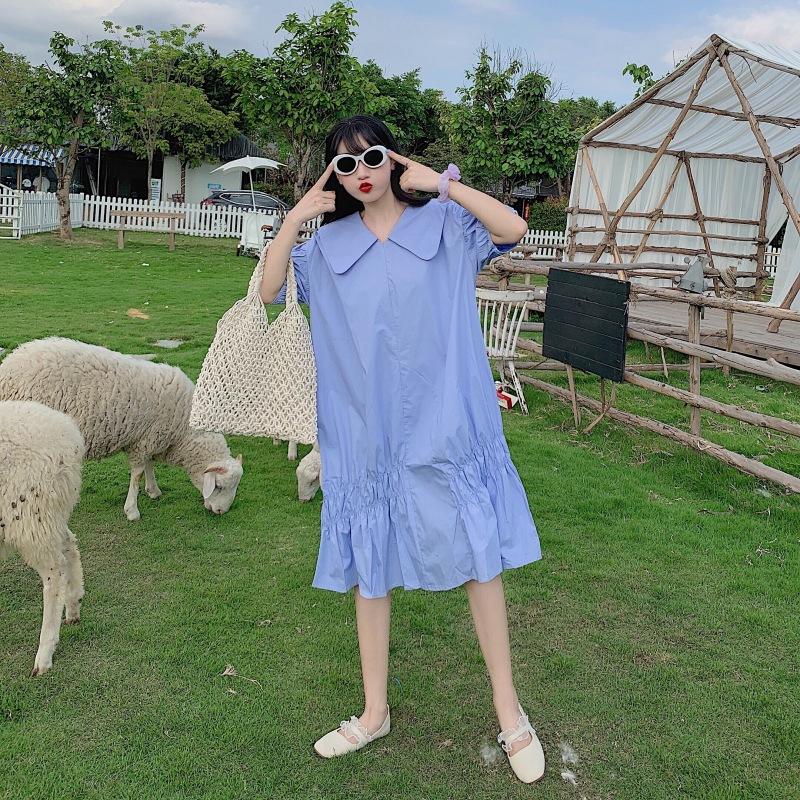 Set Áo Ngắn Tay Cổ Bẻ + Chân Váy Dài Thời Trang Cho Bé Gái