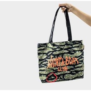 Yacht & Boat Club Tiger Stripe tote bag //F. Scuba