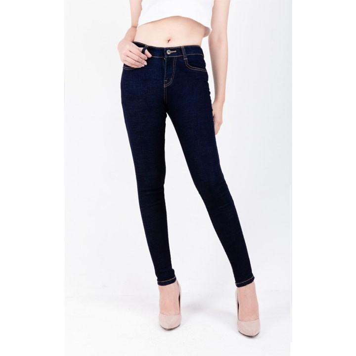 Quần jean nữ lưng cao màu xanh tiêu co giãn siêu tôn giáng ( CÓ BIG SIZE ) 003-sp25