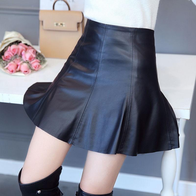 Chân Váy Da Lưng Cao Thời Trang Quyến Rũ Cho Nữ
