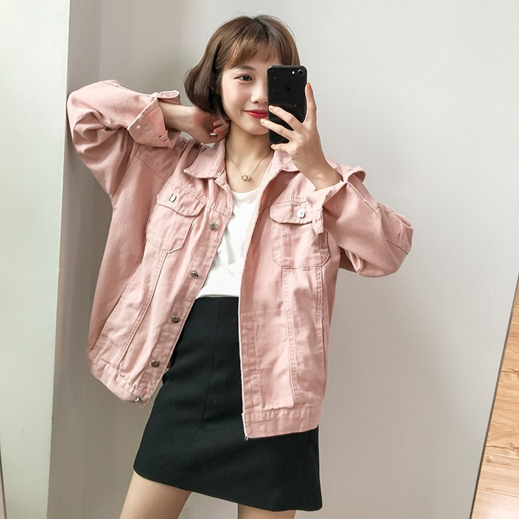 ORDER (có ảnh thật) áo khoác denim bốn màu phong cách Ulzzang Hàn