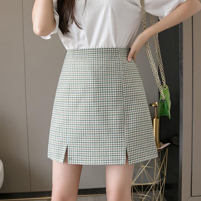Chân Váy Sọc Ca Rô Thời Trang Xinh Xắn Cho Nữ Kiểu Hàn Quốc 2020