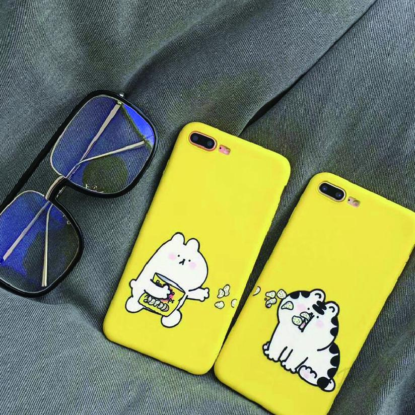 Hình ảnh COD Iphone Eating Potato Chip Cat Phone Xs Case Max All-inclusive Soft Shell Protective Cover 293