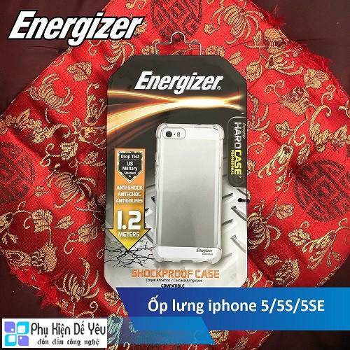 Ốp lưng trong Energizer HC chống sốc 1.2m cho iPhone 5/5S/SE- ENCMA12IP5TR
