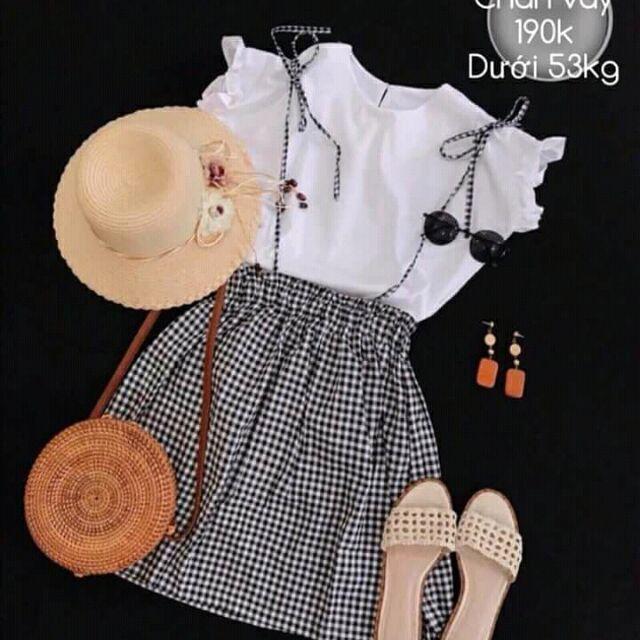 Sét áo + chân váy kate