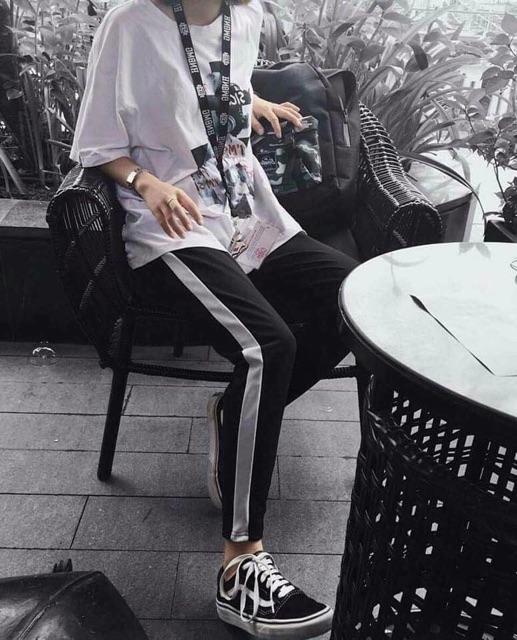 LINE PANT / ONE LINE - QUẦN THỂ THAO - DÁNG RỘNg - SIZE M L