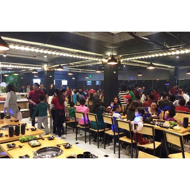 Hà Nội [Voucher] - Buffet Nướng thả ga không lo về giá tại Sky BBQ Không phụ thu cuối tuần