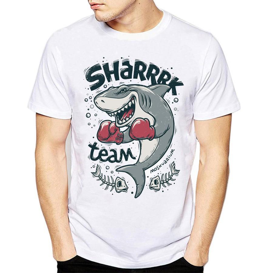 Áo thun in hình Cá Mập Shark Team, áo thun unisex nam nữ - Giá rẻ