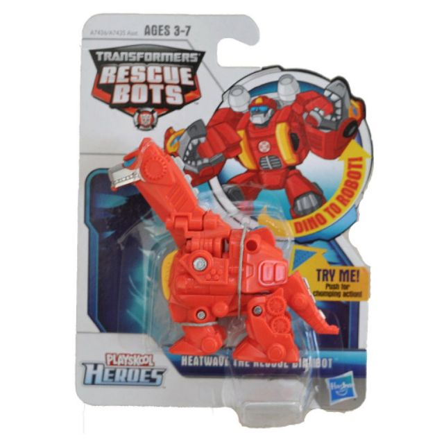 Đồ chơi Robot Transformers Playskool Heroes Rescue Bots Heatwave the Rescue Dinobot (Box)